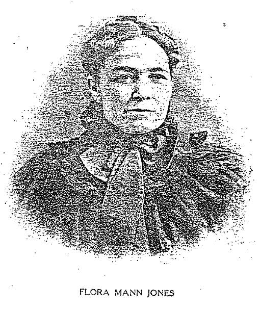 Flora Mann Jones, whom the town of Flora was named after.